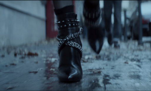 black ankle boots from atomic blonde