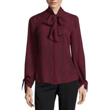Worthington Long Sleeve Tie Blouse, $14.40