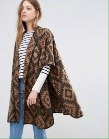 Vero Moda Geo-Tribal Cape, $22