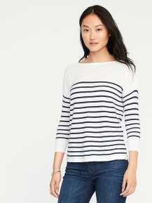 Lightweight Textured Bateau Sweater for Women, $24