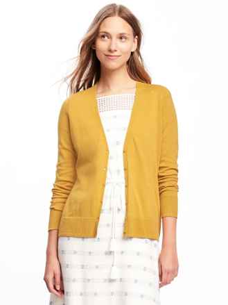 Button-Front V-Neck Cardi for Women, $24.99