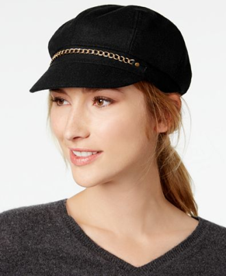 Chain-Link Newsboy Cap, $21