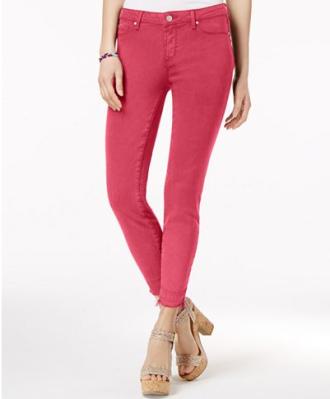 Kiss Me Frayed Skinny Jeans, $14.96