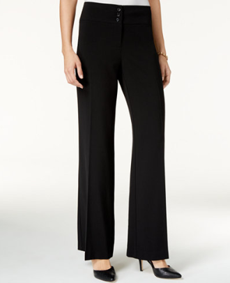 Stretch Wide-Leg Pants, $27.98