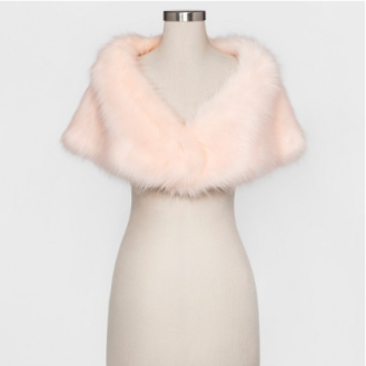 Faux Fur Shrug with Satin Lining, $24.99