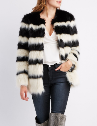 Faux Fur Oversize Jacket, $31.49