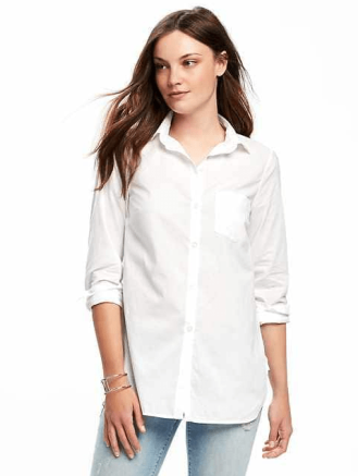 Classic White Tunic for Women, $24