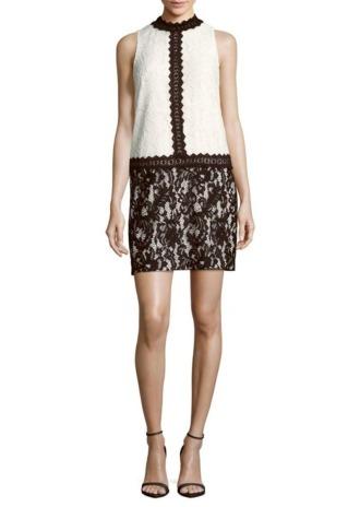 Mockneck Lace Dress, $64.97