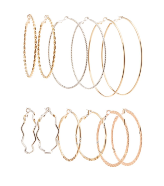 Hoop Earrings, $3.89