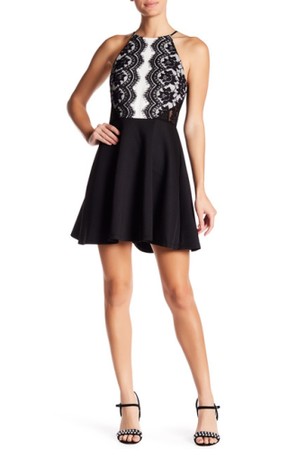 Sleeveless Lace Fit & Flare Dress, $29.97