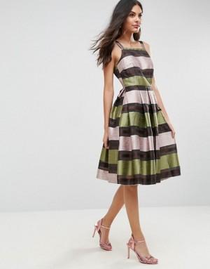 ASOS Stripe Midi Prom Dress, $47.37