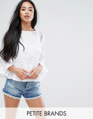 New Look Petite Embroidered Blouse, $22