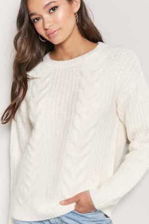 Cable-Knit Sweater, $22.90