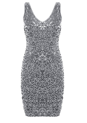 Sequin Glitter Bodycon Mini Party Dress, $26.99