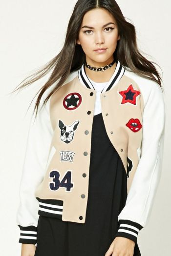 Fleece Varsity Patch Jacket, $26.99