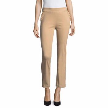 Liz Claiborne Slim Fit Ruffle Pocket Ankle Pants, $14.40
