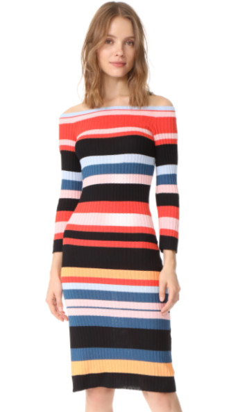 Striped Midi Dress, $79
