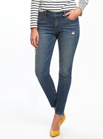 Mid-Rise Curvy Skinny Jeans for Women, $29.99