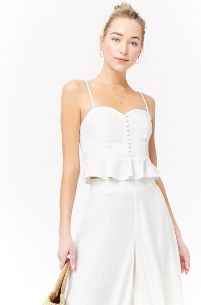 Sweetheart Cropped Cami, $12.90