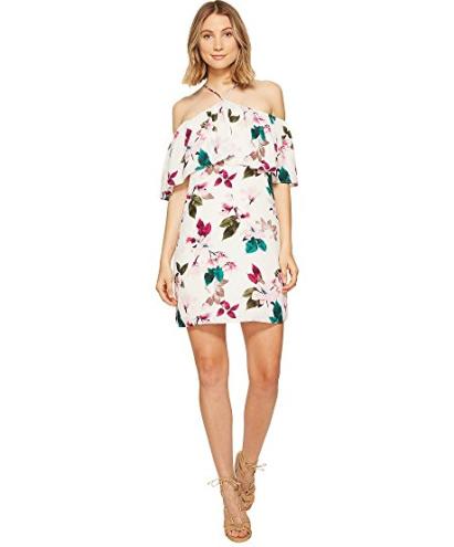 Halter Neckline Ruffle Dress, $63