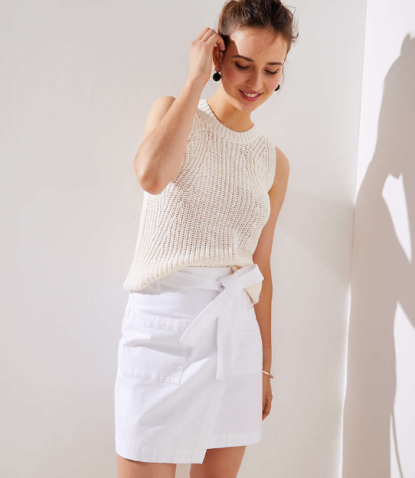 Petite Pocket Wrap Skirt, $59.50
