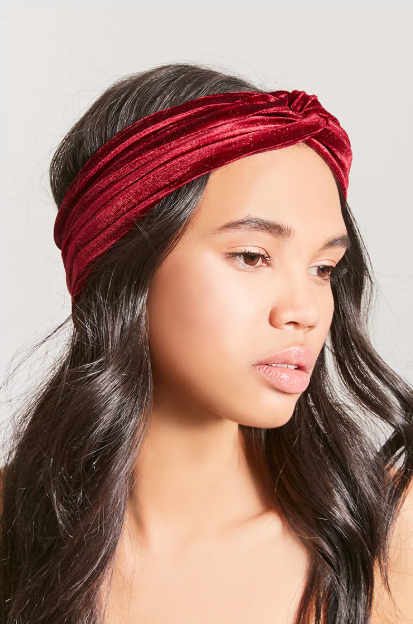 Textured Twist-Front Headwrap, $3.92