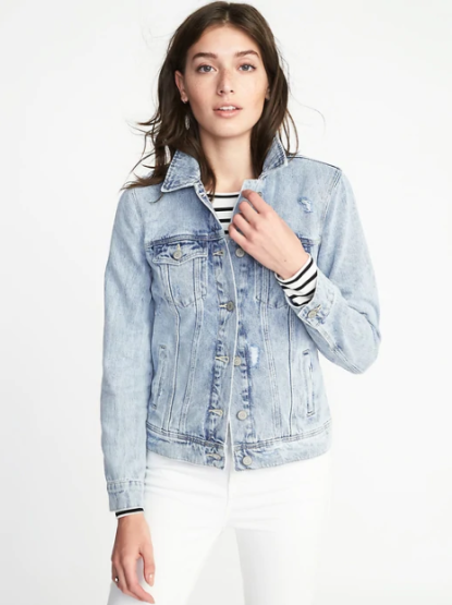 Distressed Denim Jacket for Women, $39.99
