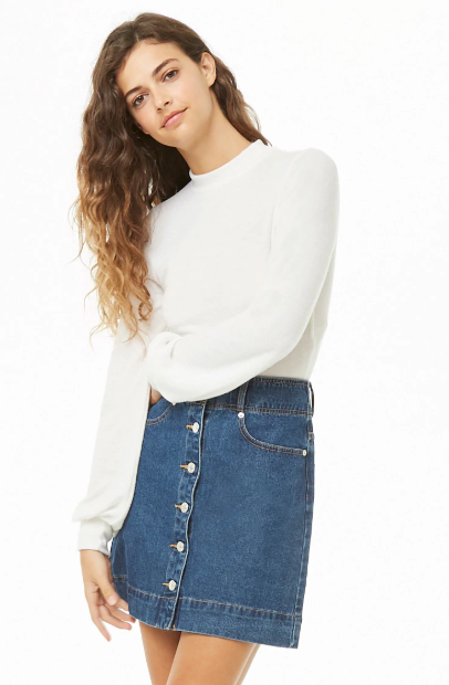 Plush Mock Neck Top, $12.90
