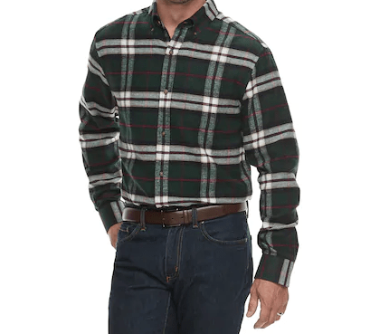Men's Croft & Barrow® Slim-Fit Flannel Button-Down Shirt, $15.29