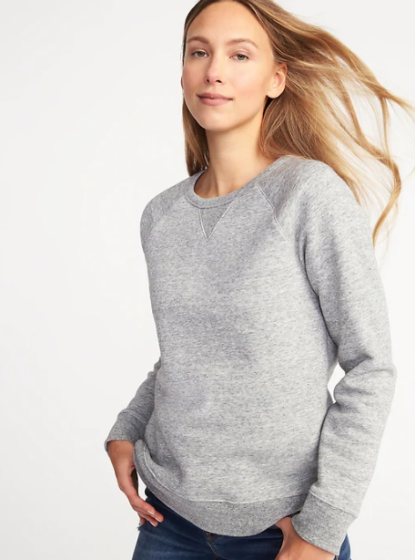 Relaxed French Terry Sweatshirt, $24.99