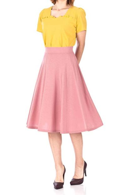 A-line Flared Swing Midi Skirt, $19.90
