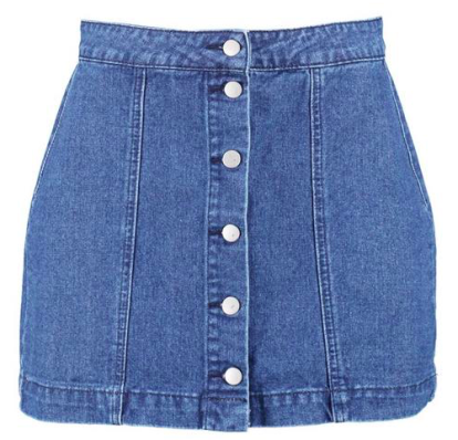 Western Style Button Though Denim Skirt, $18