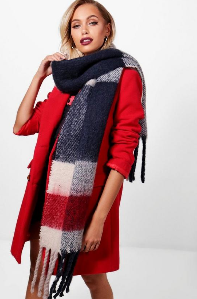 Brushed Chunky Check Scarf, $11.20