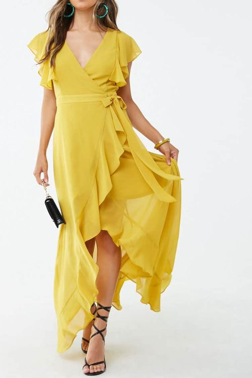 High-Low Wrap Dress, $45