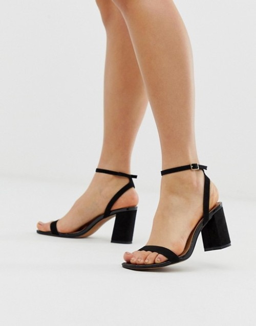 Hong Kong Barely There Block Heeled Sandals, $40