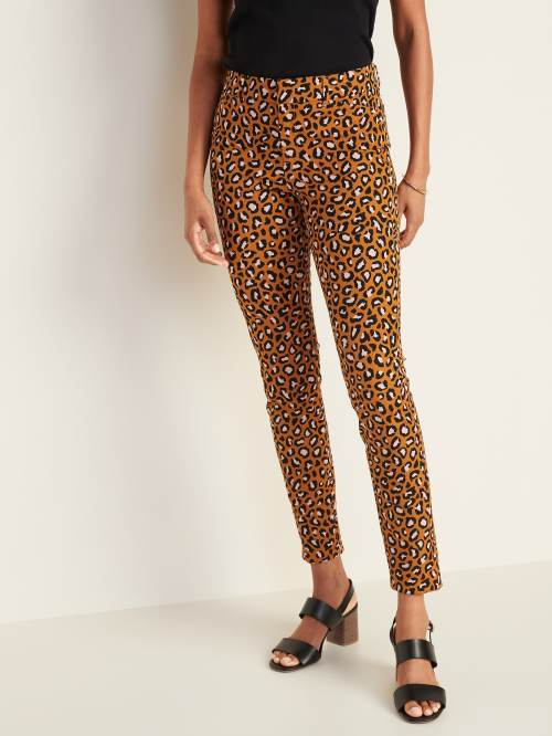 Mid-Rise Printed Pixie Ankle Pants for Women, $29