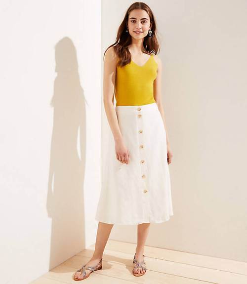 Button Front Midi Skirt, $34.99