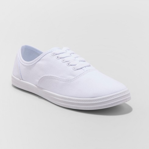Women's Emilee Lace Up Canvas Sneakers, $10